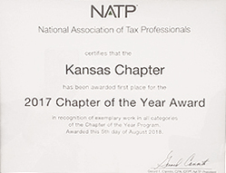 2017 NATP Chapter of the Year Award